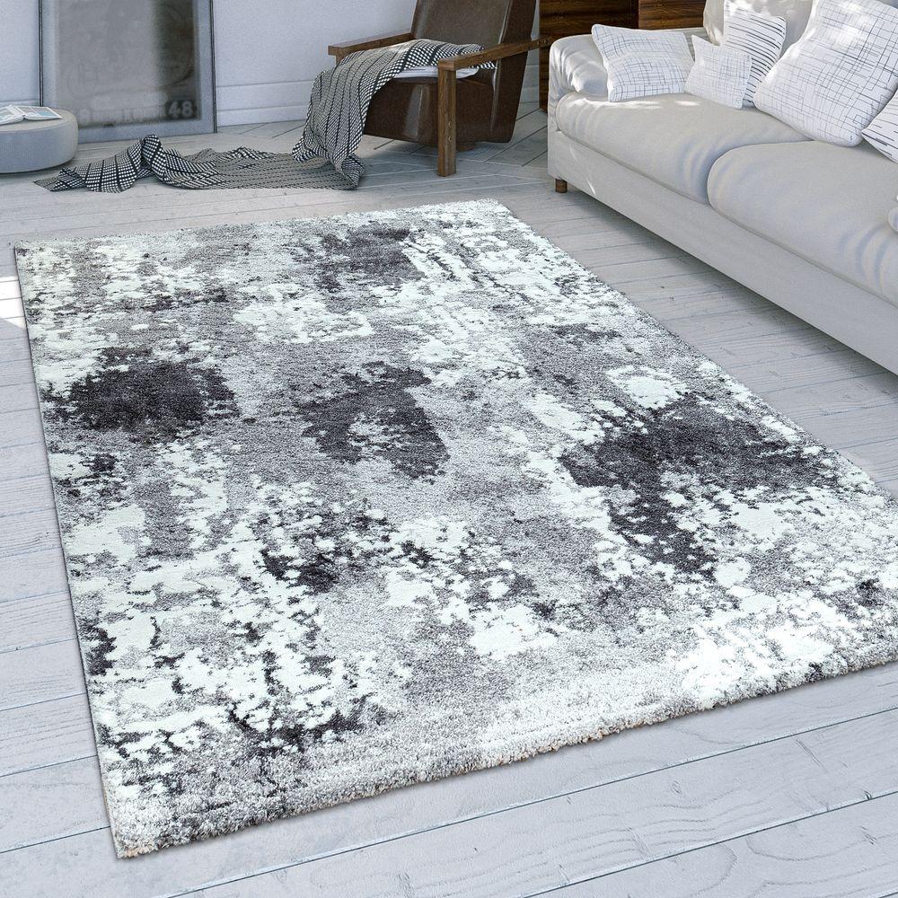Wohnzimmer Teppich Used Look Grau Blau Weiss Wohnzimmer Teppich Teppich Kurzflor Teppiche