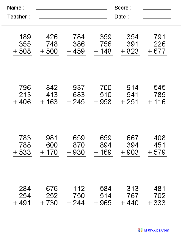 GREAT site for creating your own math worksheets | Homeschool ...