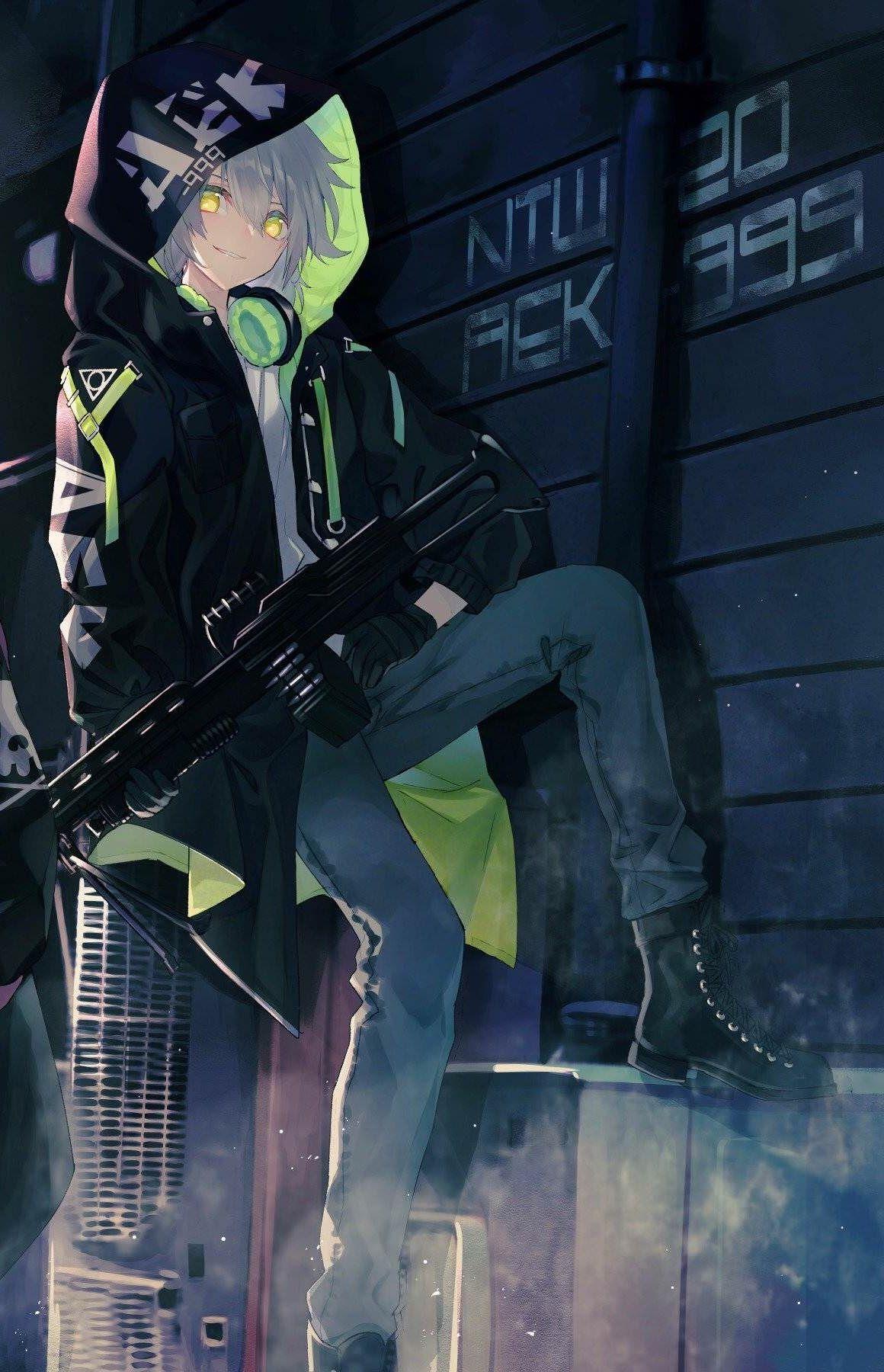 Anime boys with guns wallpaper