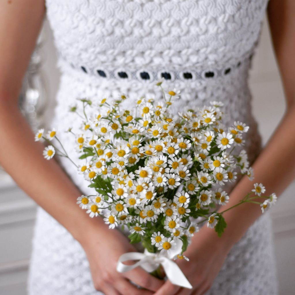Wedding Flowers Harrogate: Matricaria Bridal Bouquet