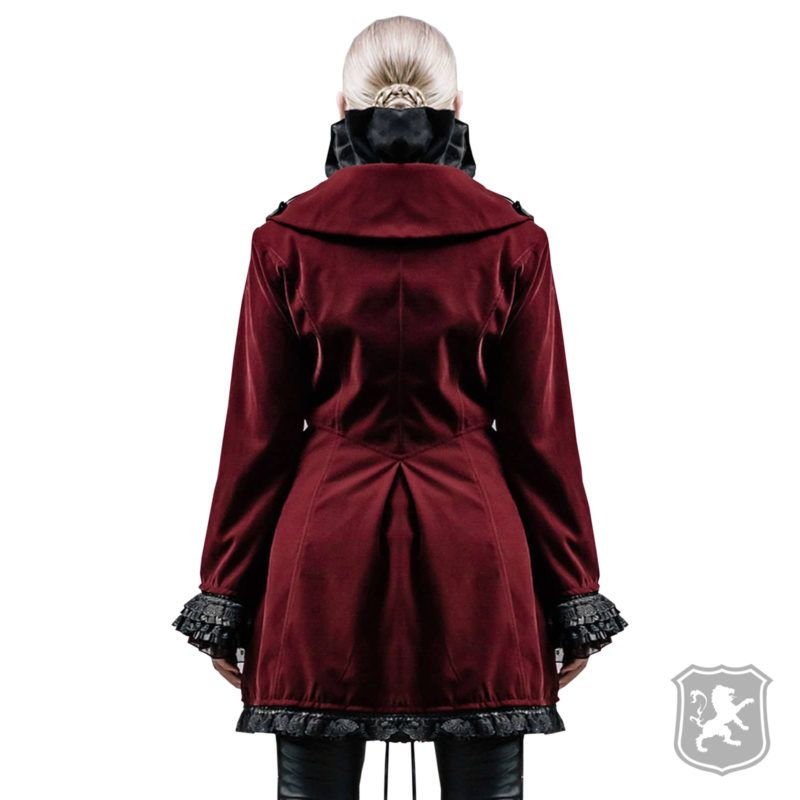 Fashion Gothic Punk Streampunk Mens Jacket Coat Hoodie Black Military Cosplay Outfit Fashion Gothic Punk Streampunk Mens Jacket Coat Hoodie Black Military Cosplay outfit Woman Waistcoats red velvet goth steampunk woman's waistcoat