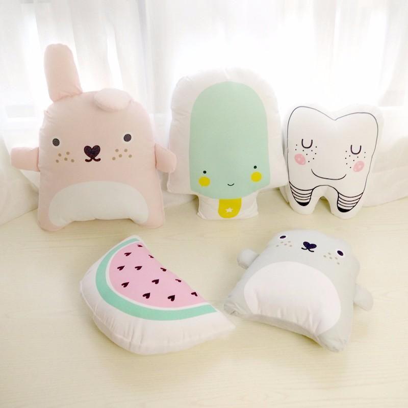 Decorative Pillows Cartoon Cushion Emoji Creative Ice Cream Cushion