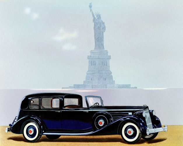 Holy Cow… a beautiful 1936 Packard Twelve Town Car; notice the driver sits up …