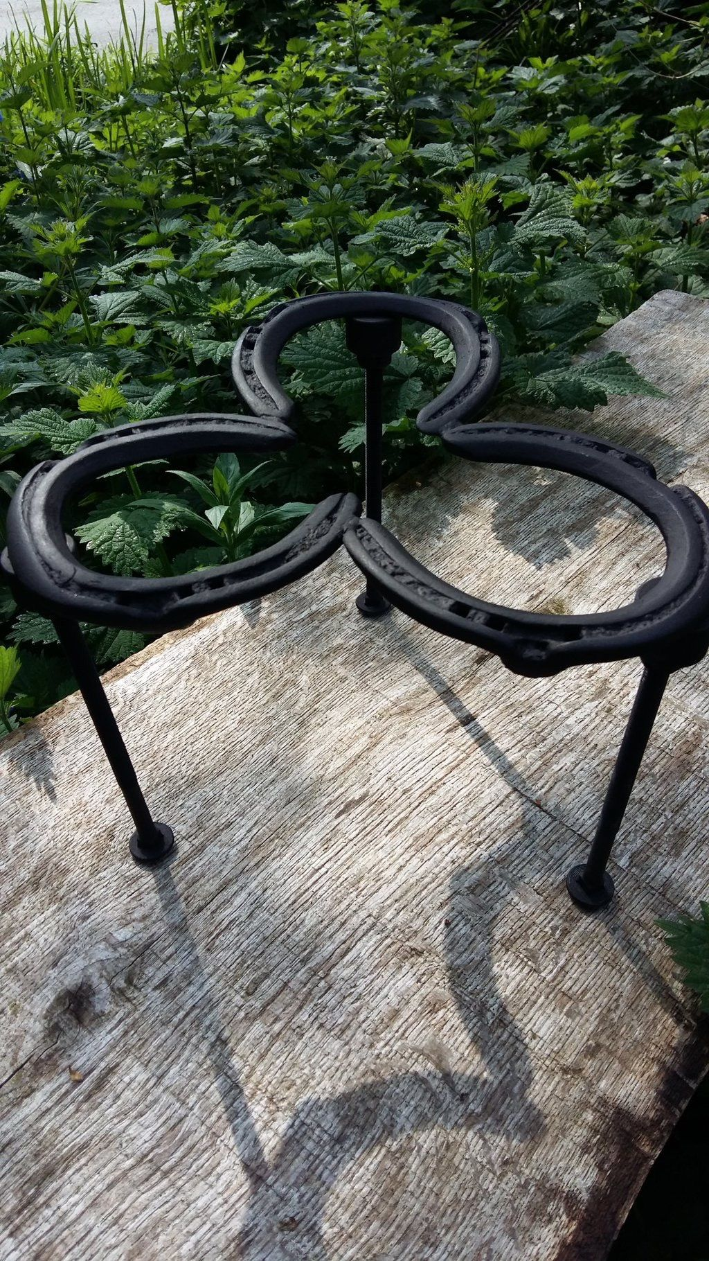 Staff here at Wiltshire Wildlife Trust have been creative and reused / upcycled some unwanted horseshoes to make a kettle stand! A great idea for cooking over a campfire! If you've made something out of rubbish, share it with us using #MyRubbishIdea on Twitter @Slimbinswilts!   #reuse #upcycled #horseshoe #campfire #forestschool #wiltshire