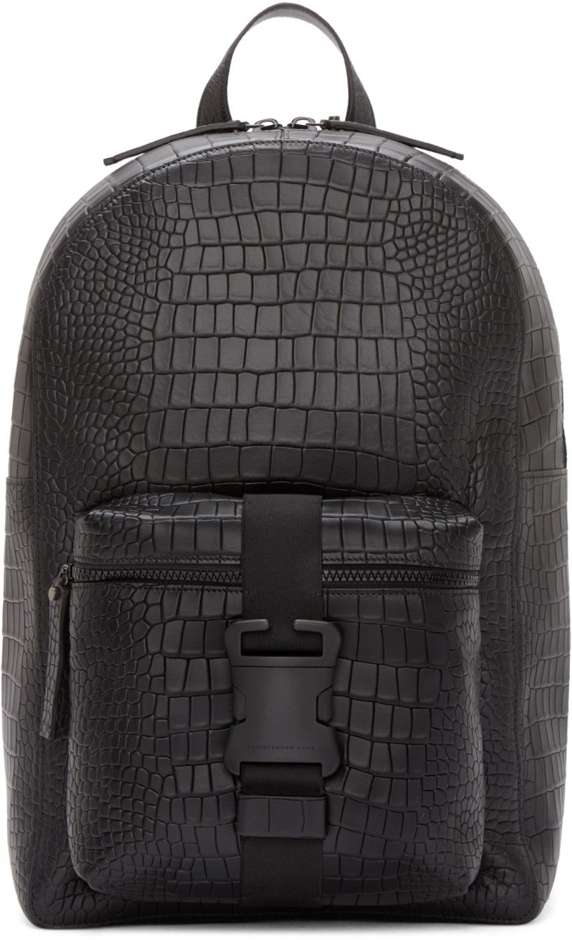 87289f0017176 Christopher Kane Black Leather Digi Croc Backpack | BAG INSPIRATION ...