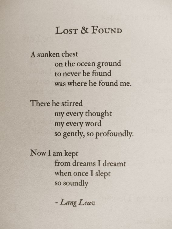 Lost Found Poetry Love Insomnia Quotes Lang Leav Poem
