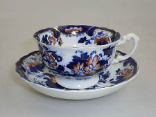 Early 19th C Staffordshire Imari Tea Cup and Saucer