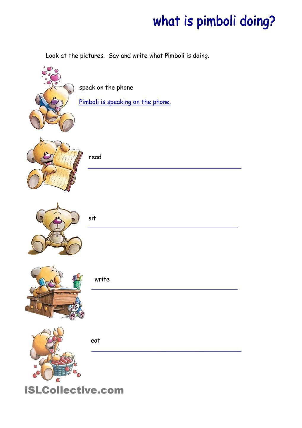 Present Continuous Continuity Presents Worksheets