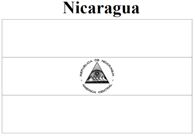 nicaraguan flag coloring page geography blog nicaragua flag coloring page