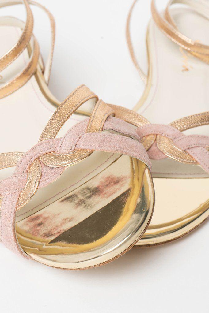 Brautschuh Flache Sandalette In Gold Und Altrosa Zur Hochzeit Athen Altrosa Athen Bra Brautschuhe Schuhe Frauen Und Brautschuhe Flach