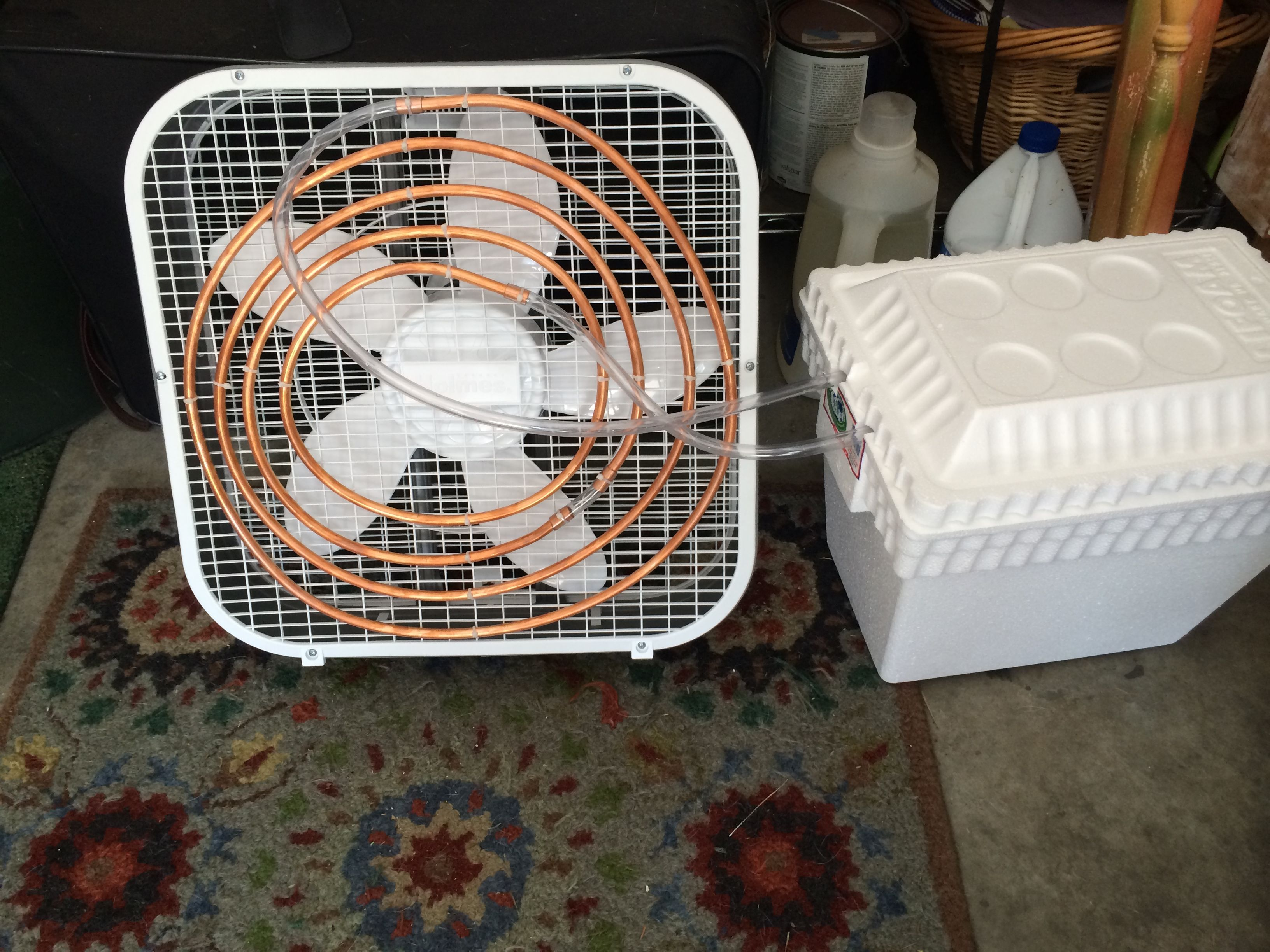 here is an ac system that I built for our dog house. it