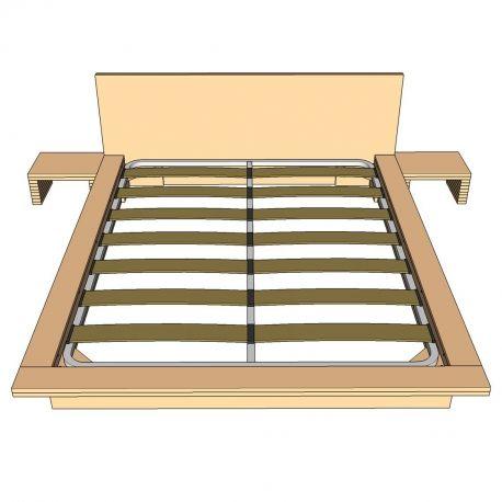 Planos cama tatami somier met lico planos de carpinter a - Somier japones ...