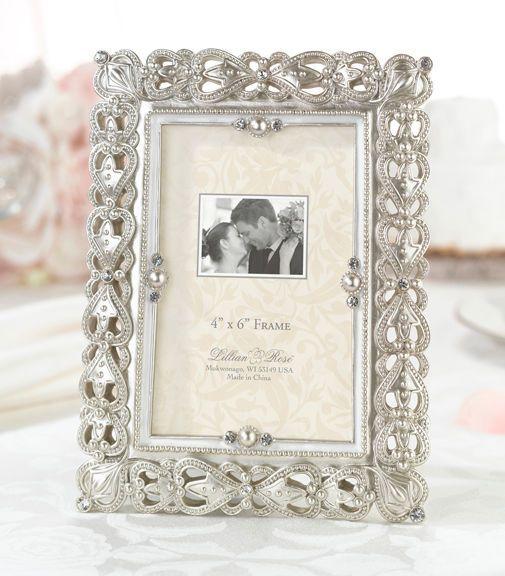 Lillian Rose Regal Elegance Vintage Themed Jeweled Picture Frame ...