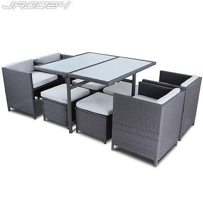 gartenmobel rattan lounge grau, poly rattan gartenmöbel gartengarnitur essgruppe gartenset, Design ideen