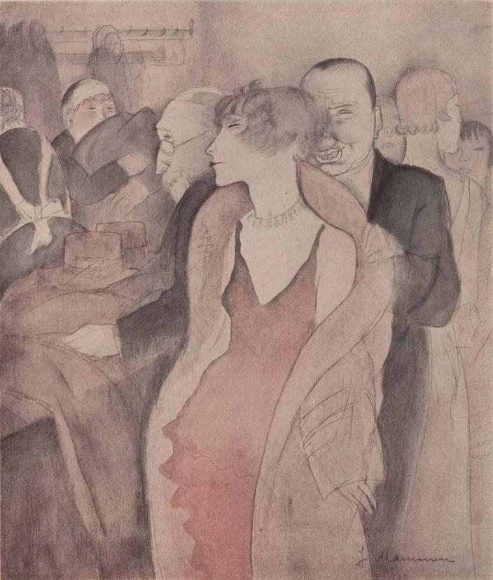 By Jeanne Mammen (1890-1976), Jan. 1932, Gesprächsfetzen (Snatches of conversation), Simplicissimus. iL #WeimarCulture #WeimarRepublic