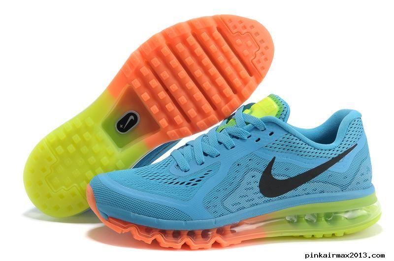 Mens Nike Air Max 2014 Blue Orange Black Shoes