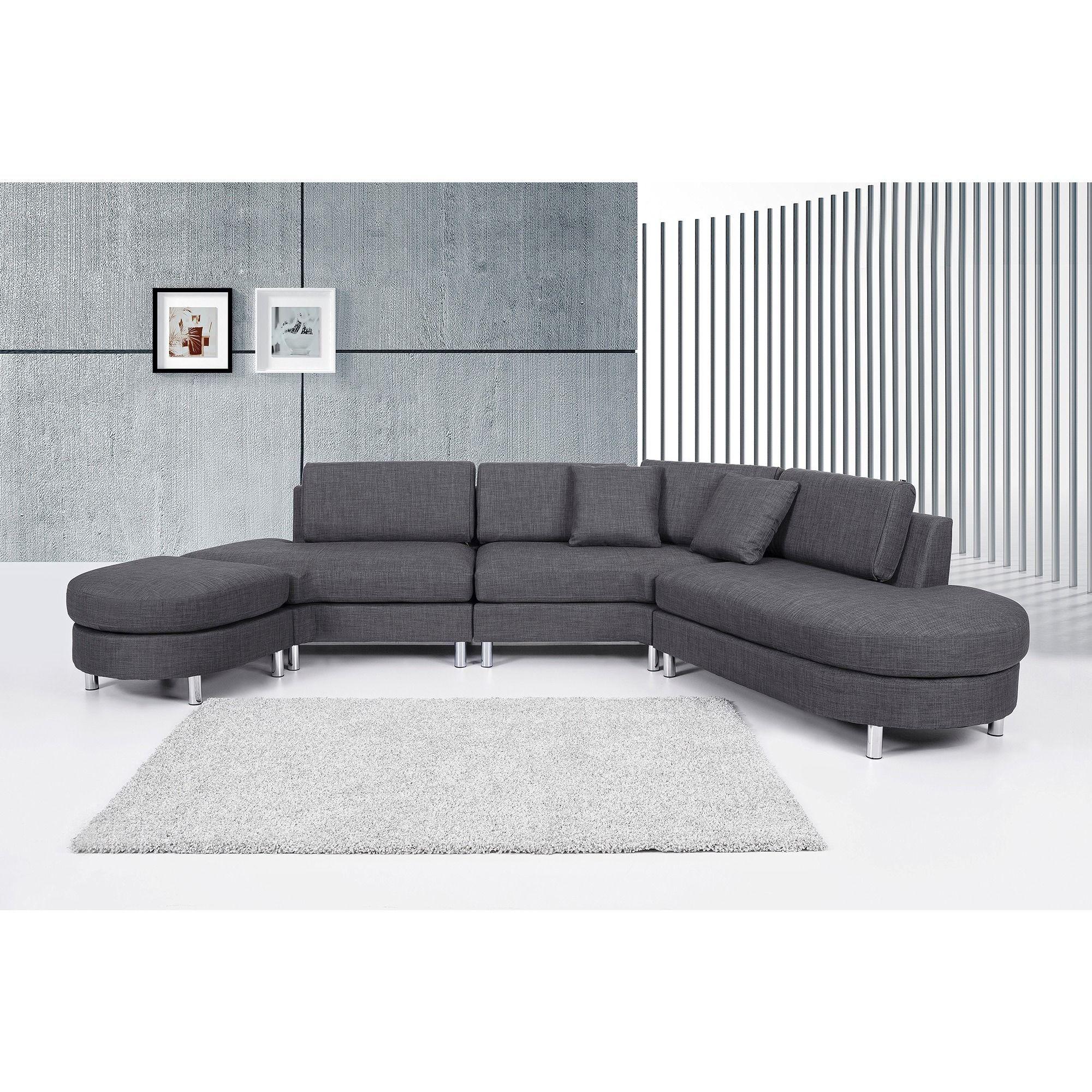 Beliani Copenhagen Contemporary Italian Design Sectional ...