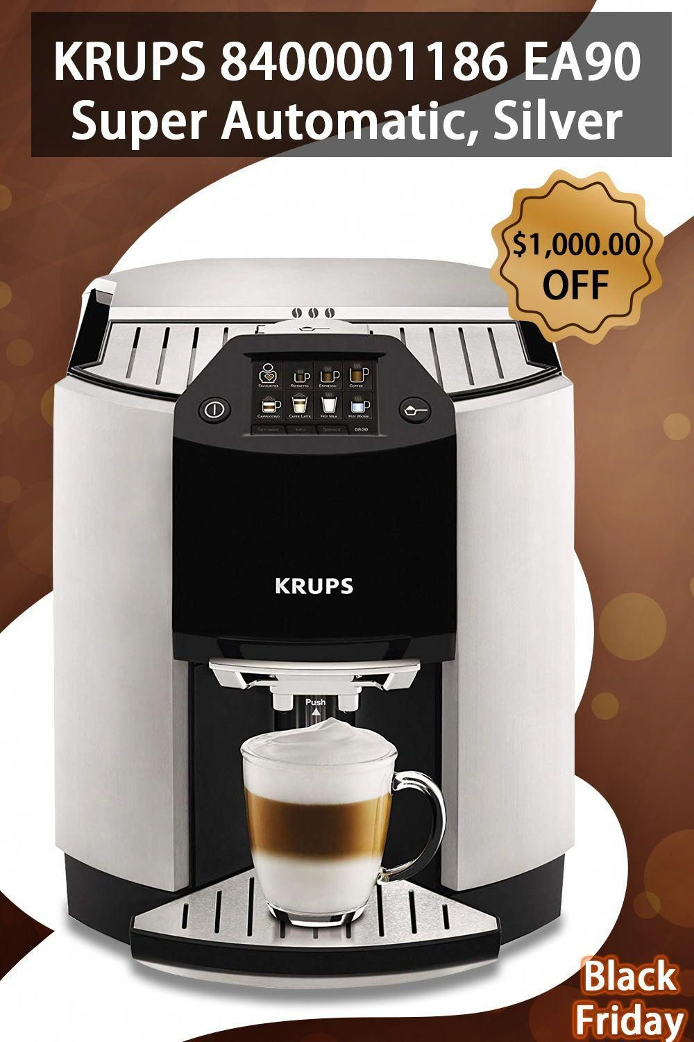 Super Automatic One Touch Cappuccino Machine, black friday