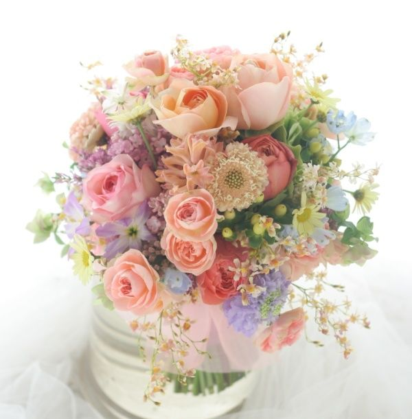 Spring Flowers For Wedding Centerpieces: クラッチブーケ 春爛漫 アニヴェルセル東京ベイ様へ