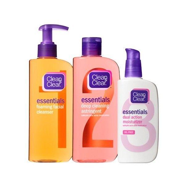 Clean Clear Essentials Facial Skin Care Set Sensitive Skin Routine Skin Care Essentials Facial Skin Care