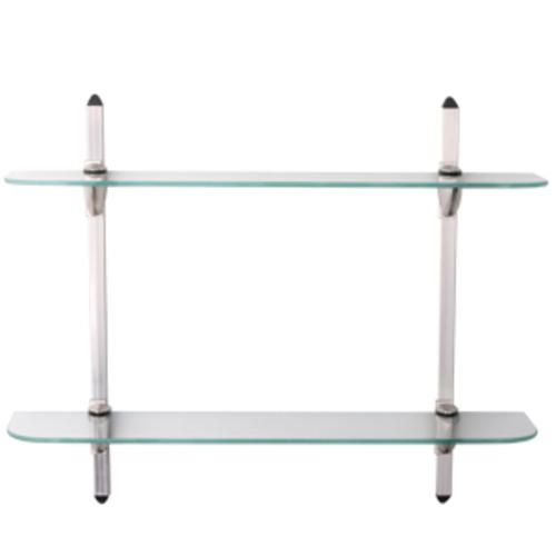 Illusions Decorative Glass Shelf Kit Satin Nickel At Menards Glass Shelf Brackets Glass Shelves Shelf Hardware