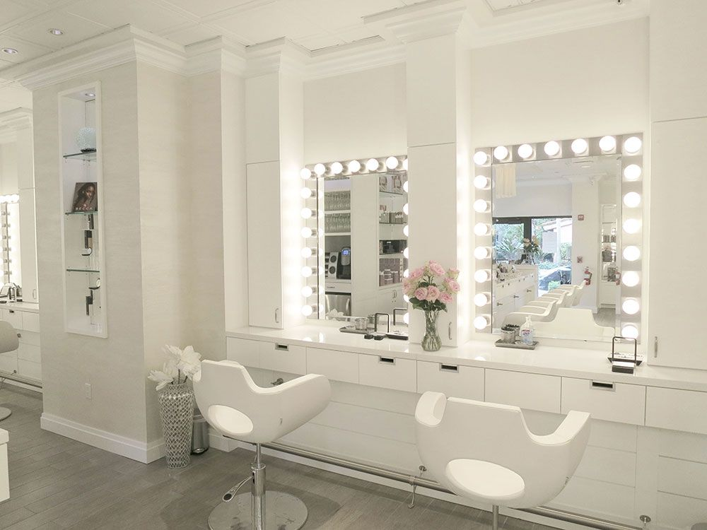 Salon tour cloud 10 blow dry bar salon in boca raton Makeup room paint colors