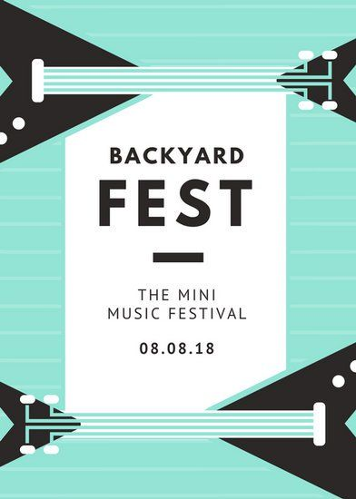 Mint Bass Simple Party Event Flyer - Templates by Canva   Graphic ...