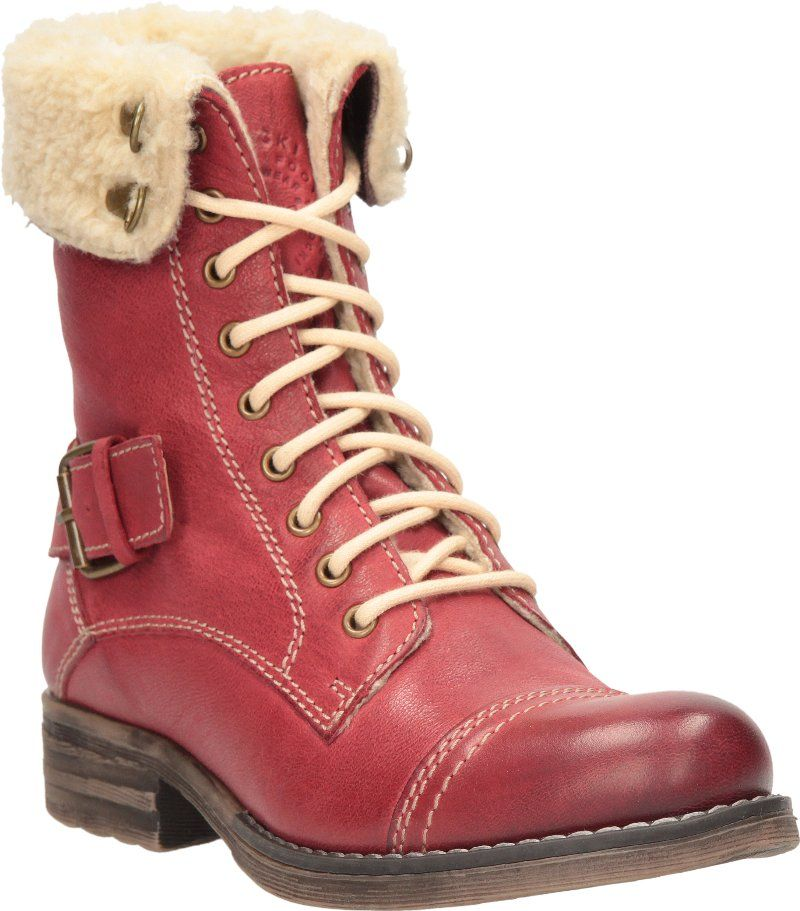 Lasocki red winter boots