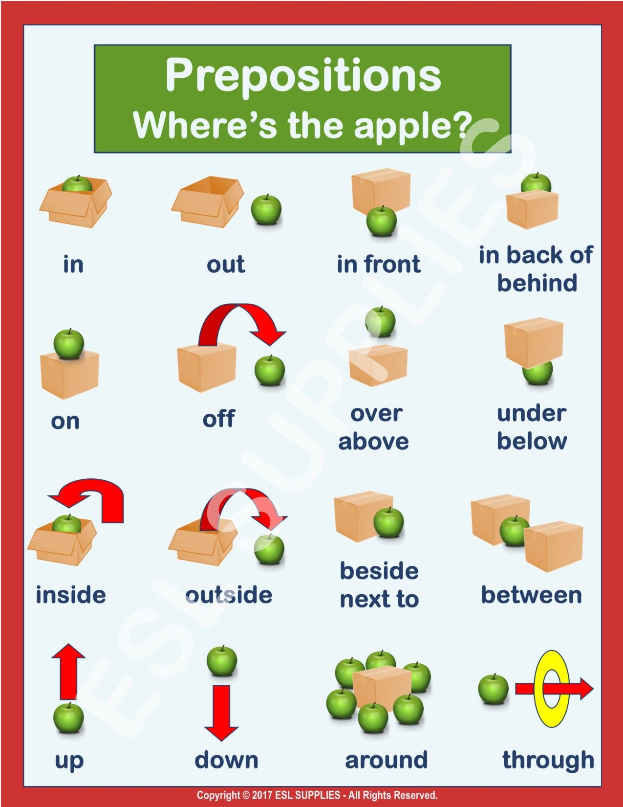 Have Fun Teaching Place Prepositions With Little Green