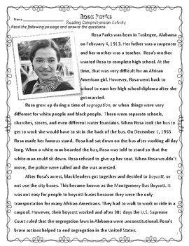 Women S History Month Freebie Rosa Parks Con Imagenes