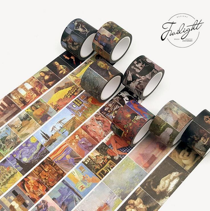 To Master Van Gogh Monet Painting Washi Tape Diy Scrapbooking Sticker Label Masking Tape School Office Supply In Of Washi Tape Diy Washi Tape Crafts Washi Tape