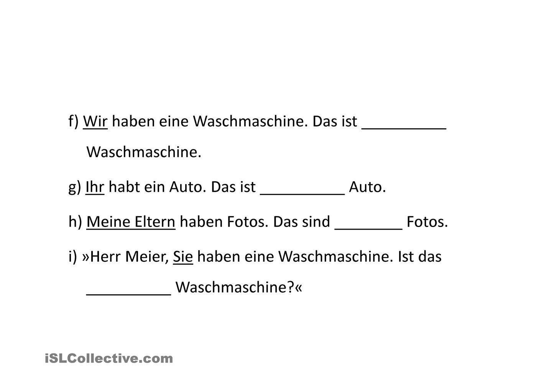 Possessivpronomen   lekcje niemieckiego   Pinterest
