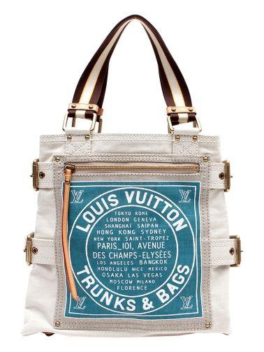 f7c4ac1084f Limited Edition Louis Vuitton Global Shopper. Trunks   Bags. Abmessungen   25cm x 23cm x 6cm Farbe  Beige mit blauem Emblem Gurtlänge ab Taschenende  ca.