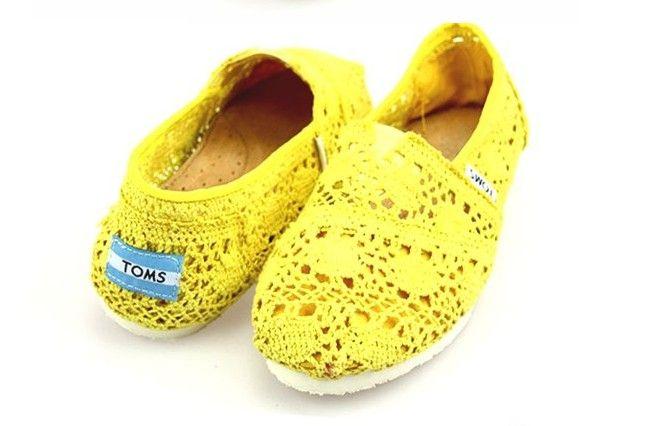269f4e6d888 Toms Crochet Shoes Yellow Womens Classic