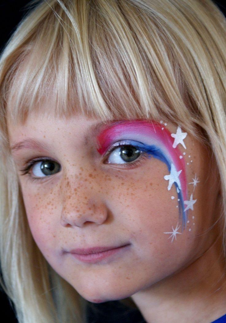 Face, Eye And Rainbow Face Paint
