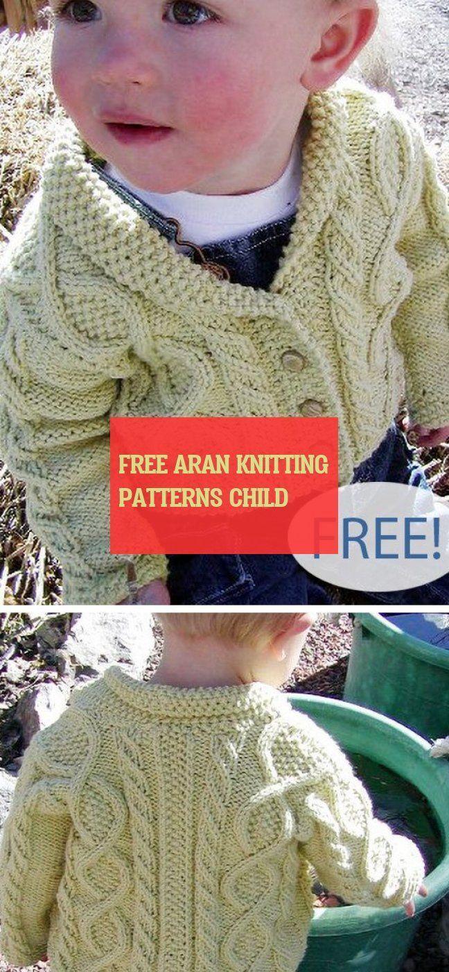 free aran knitting patterns child ~ frei aran strickmuster ...