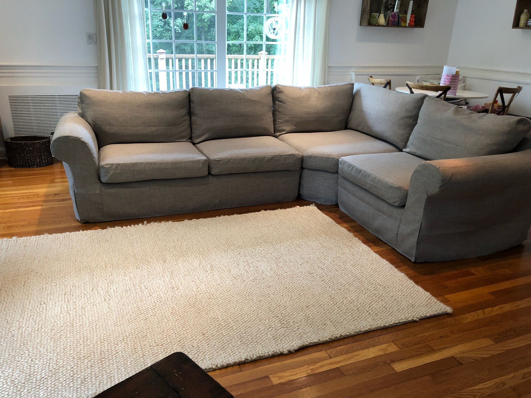 Pottery Barn Pearce Sectional Sofa In Kino Ash Couch Covers By