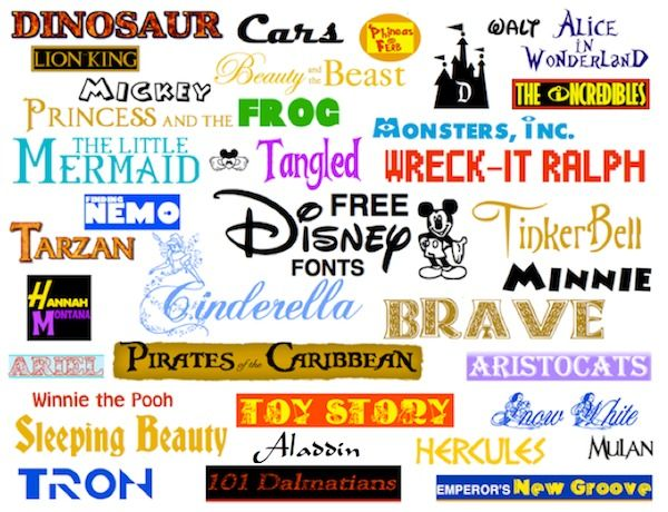 free disney fonts make your own party invitations party labels and
