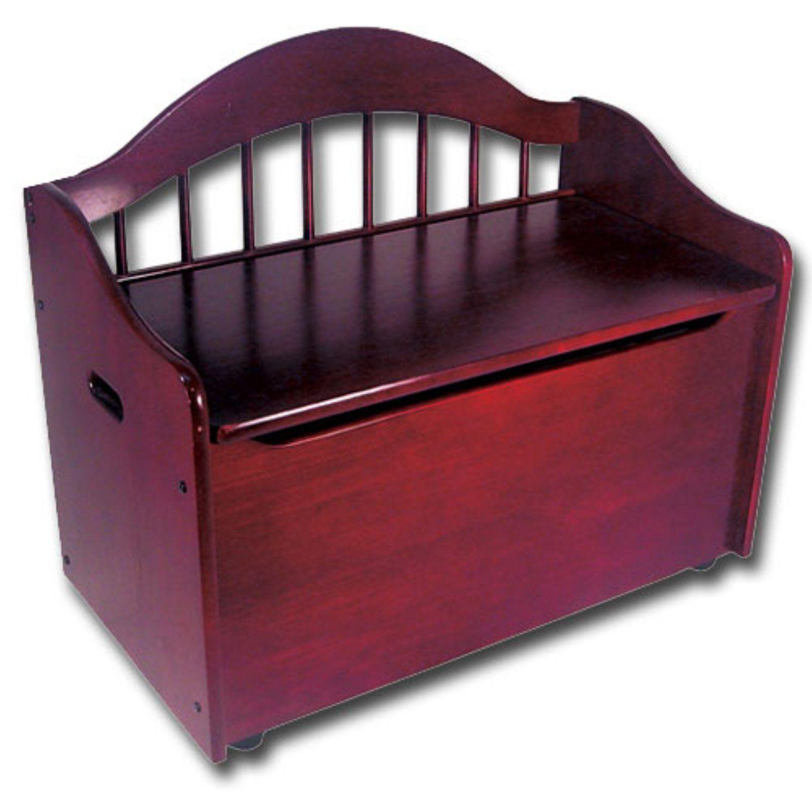 KidKraft Austin Wooden Toy Organizer Storage Chest Box and Sitting Bench Cherry