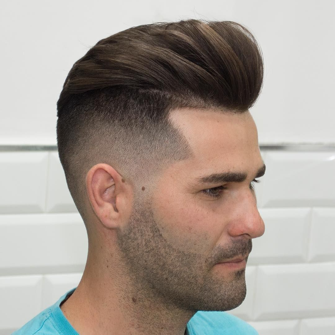 Cool pristine pompadour fade styles that will give you an edge
