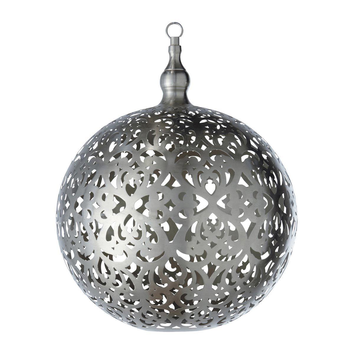 Hangeleuchte In Kugelform Aus Metall Ohne Elektrischen Anschluss D 40 Cm Rabia 179 Hangeleuchte Lampe Lampen