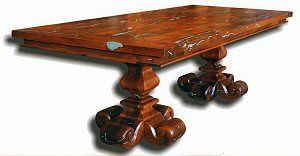 Merveilleux Inlayed Mesquite Wood, Dining Tables And Round Table From Blue Moon  Furniture