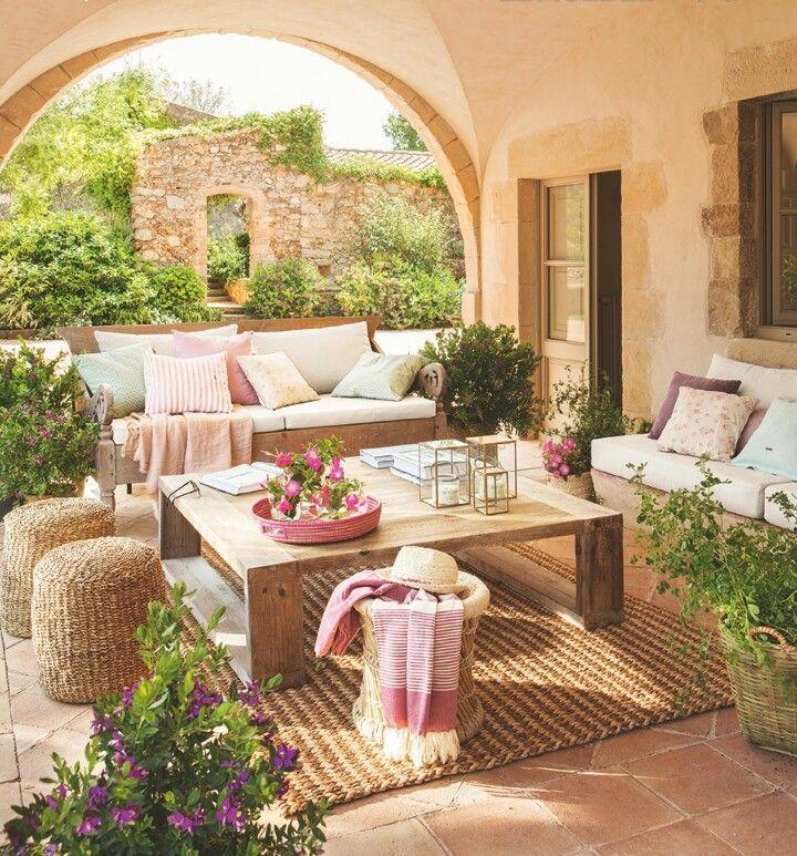 Pin de rosmy mateus en beautiful stylish homes pinterest terrazas casas y de campo - Terrazas casa de campo ...