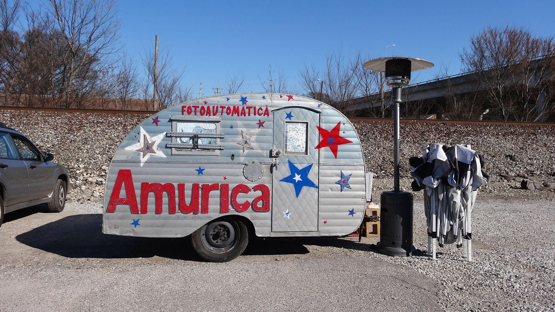 Amurica photo booth at wiseacre brewing co in 2020