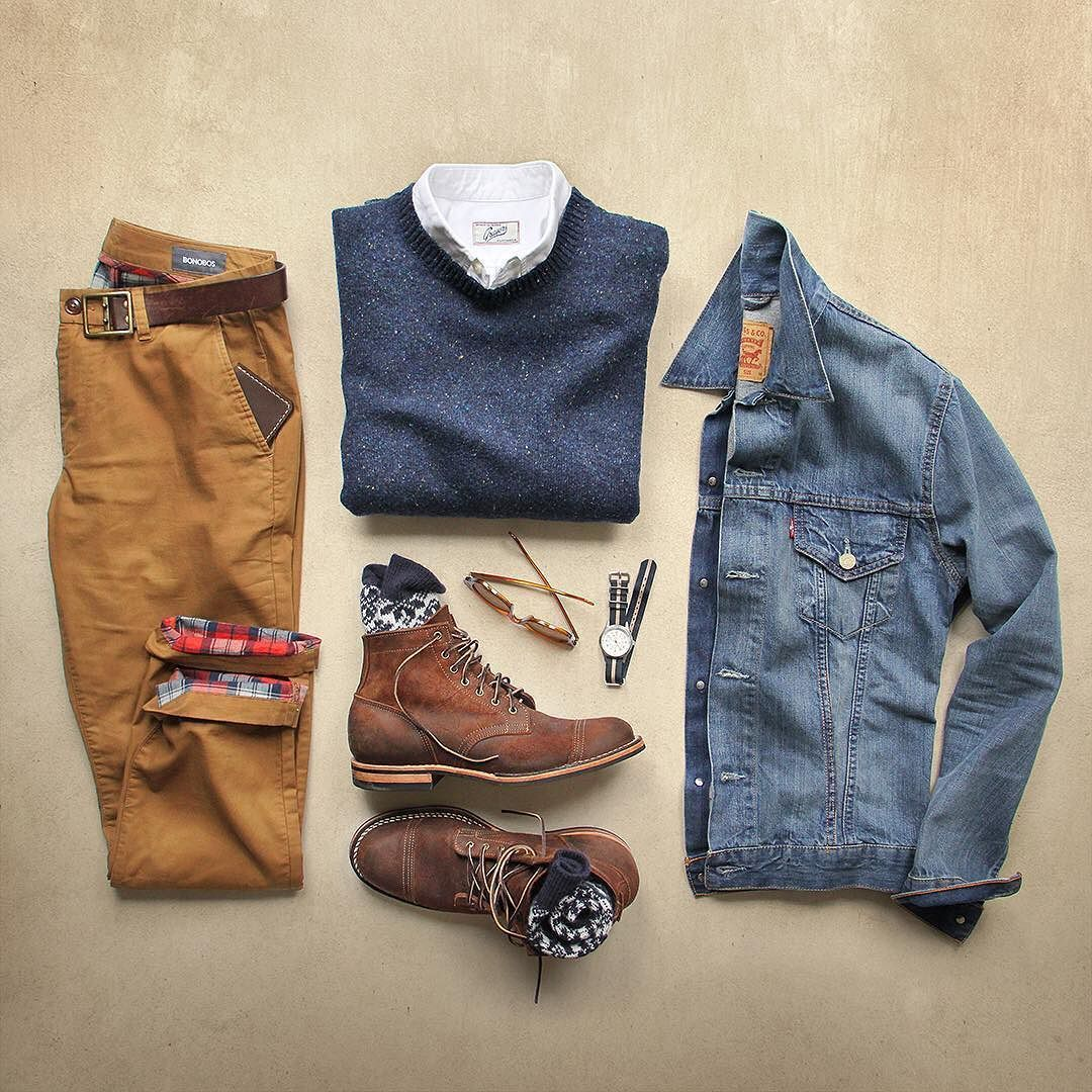 Flannel with jeans and boots  Pin by Megan Petroff on Menus fashion  Pinterest  Chinos