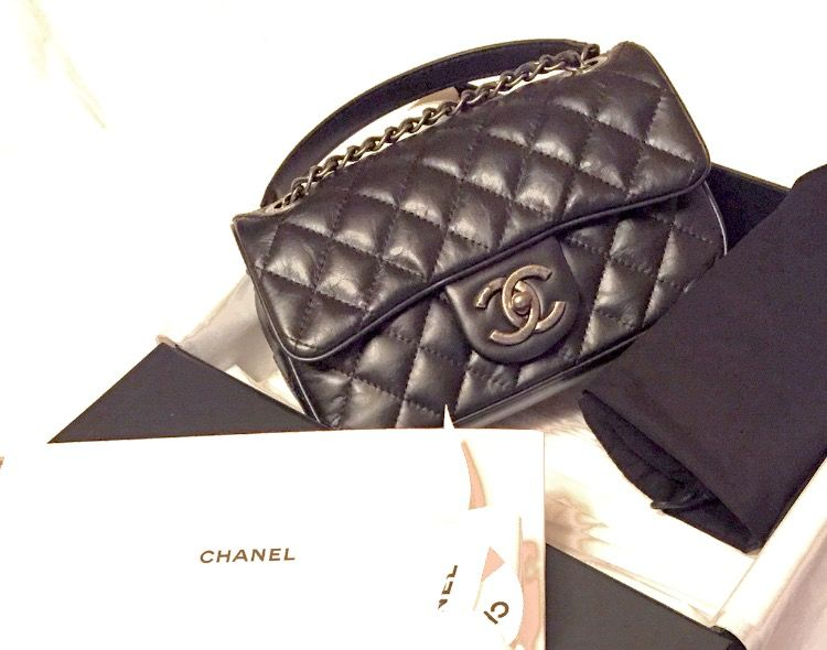 67387692d223 My first Chanel bag! from Chanel store in Paris! It's the small easy flap  bag in lambskin. J'adore mon Chanel!