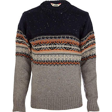 Get set for the new season with this Ecru Tokyo Laundry fairisle ombre jumper #riverisland #christmascracker