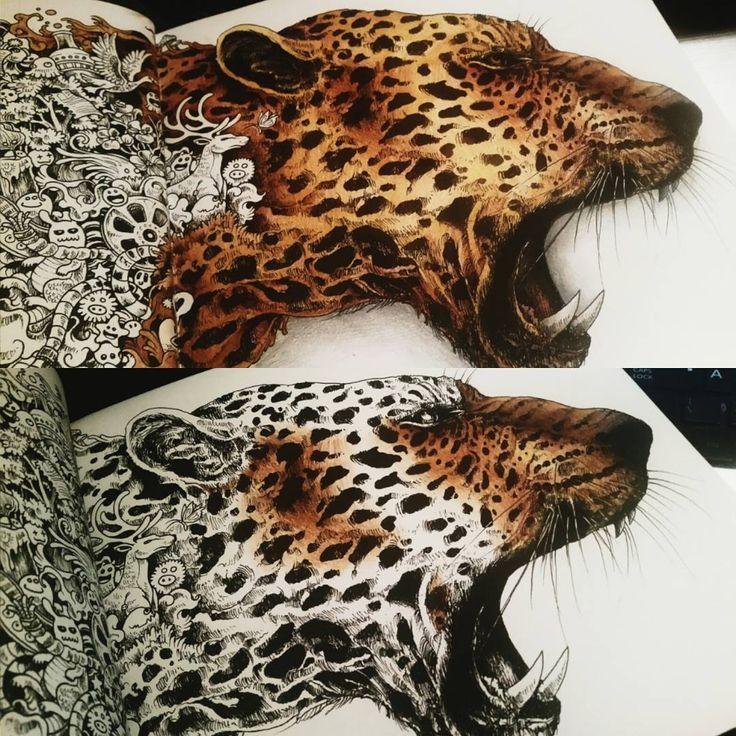 Not Even Remotely Near Finished But Im Enjoying Myself Anyway Kerbyrosanes Amazing Animorphia Coloring Book