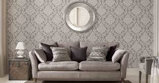 Wallpaper Vs Paint Which Is Better For Your Home Private Property Grey Damask Wallpaper Living Room Damask Wallpaper Living Room Wallpaper Living Room Accent Wall