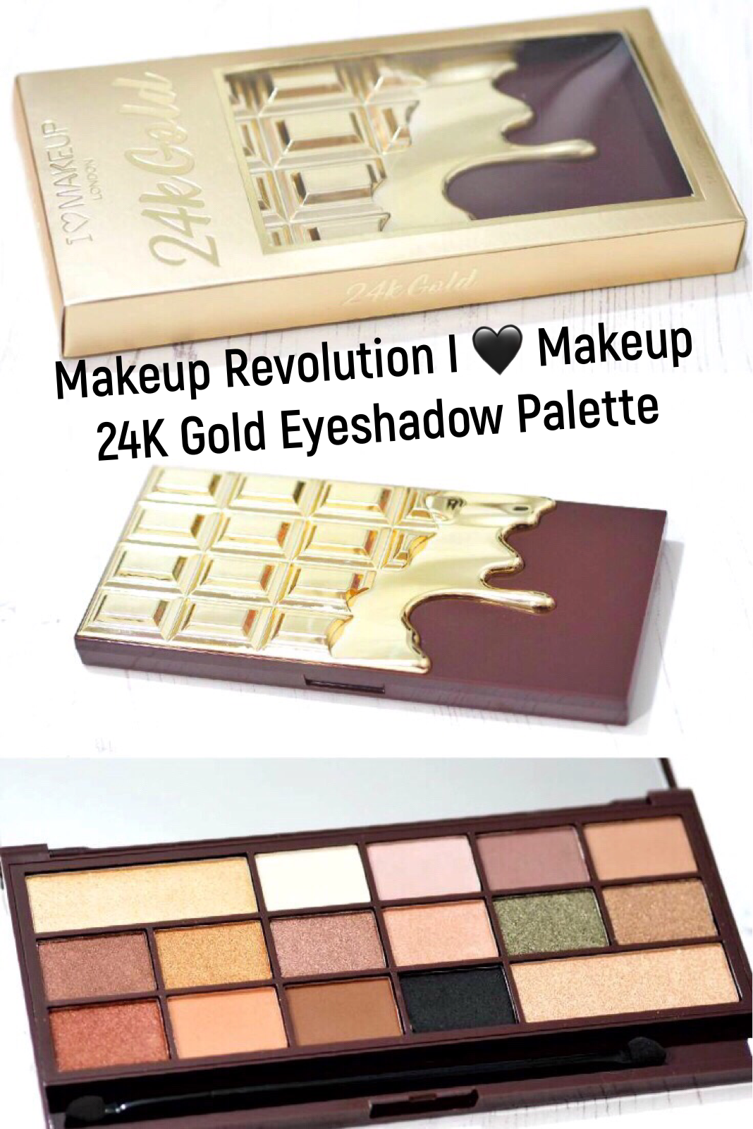 Makeup Revolution 24K Gold Eyeshadow Palette Review